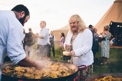 Wedding Catering (paella) - Marquee, Wirral - Nova The Outsiders